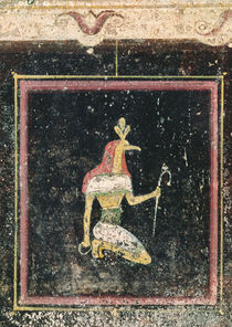 Thoth, detail from a tablinium decorated with Egyptian-style paintings by Roman
