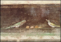 Birds eating nuts, detail from a tablinium decorated with Egyptian-style paintings by Roman