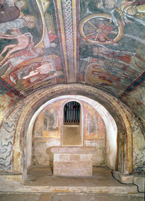 View of the Crypt and the Legend of St. Savin and St. Cyprien by French School