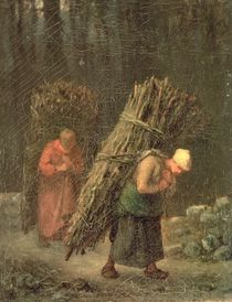 Peasant Women with Brushwood by Jean-Francois Millet