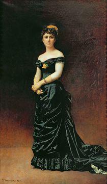 Portrait of Madame Bishoffsheim by Leon Joseph Florentin Bonnat