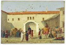 Caravanserai at Mylasa, Turkey by Richard Dadd