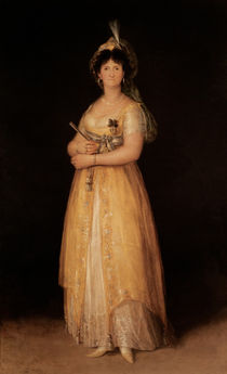 Portrait of Queen Maria Luisa wife of King Charles IV of Spain by Francisco Jose de Goya y Lucientes