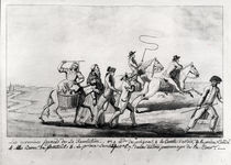 The First Runaways of the Revolution: Mme de Polignac by French School