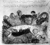 Ms Ar 5847 f.11, A caravan rest by Yahya ibn Mahmud Al-Wasiti