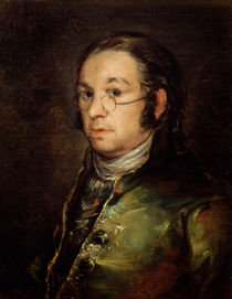 Self Portrait with Glasses by Francisco Jose de Goya y Lucientes