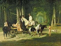 Mr. and Mrs. A Mosselman and their Two Daughters by Alfred Dedreux