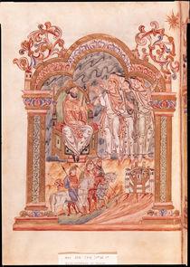 Ms 274 fol.36v The Magi Visiting King Herod von English School