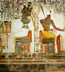 The Gods Osiris and Atum, from the Tomb of Nefertari by Egyptian 19th Dynasty