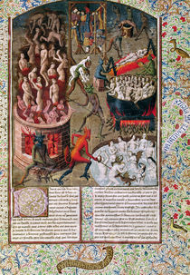 Ms 246 f.383r Hell, from the French translation of 'De Civitate Dei' by St. Augustine of Hippo by French School