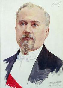 Portrait of Raymond Poincare 1915 by Joseph Felix Bouchor