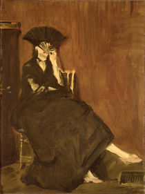 Berthe Morisot with a Fan, 1872 by Edouard Manet