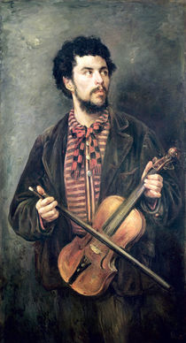 The Violin Player von Marcellin Gilbert Desboutin