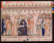 Ms.1469 f.1 The Consecration of Philippe III le Hardi King of France by French School