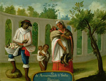 An Arvarrasado and Barsino Indian Couple with their Children by Mexican School