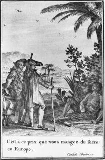 'C'est a ce prix que vous mangez du sucre en Europe' von Jean Michel the Younger Moreau