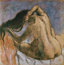 Woman Combing her Hair, 1905-10 by Edgar Degas