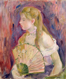 Young Girl with a Fan, 1893 von Berthe Morisot