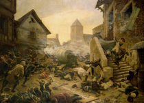 Combat at Cholet, or The Suicide of General Moulin in 1794 by Jules Benoit-Levy