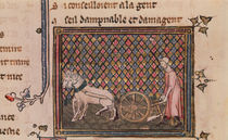 Ms.1044 f.21v The Man Obliged to Work for a Living by French School