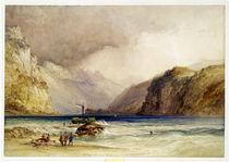 Wallenstadt, from Wesen, Switzerland by William Callow