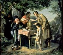 Tea Drinking in Mytishchi, near Moscow, 1862 von Vasili Grigorevich Perov