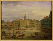 Place de L'Hotel de Ville, Cambrai, c.1780 by Antoine Francois Saint-Aubert