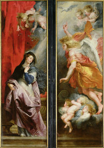 The Annunciation, from the reverse of the Triptych of the Martyrdom of St. Stephen by Peter Paul Rubens