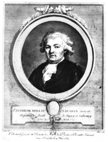 Portrait of Jean-Anthelme Brillat-Savarin engraved by Lambert by Louis Jean Allais