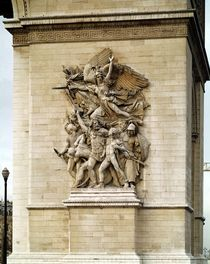 La Marseillaise, detail from the eastern face of the Arc de Triomphe by Francois Rude