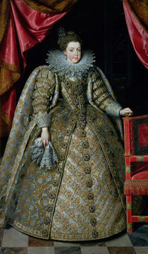 Portrait of Elisabeth of France 1615 by Frans II Pourbus