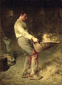 A Winnower, 1866-68 by Jean-Francois Millet