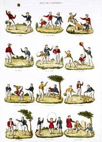 Children's Games, 1810 von French School