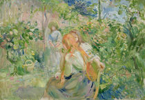 In the Garden at Roche-Plate von Berthe Morisot