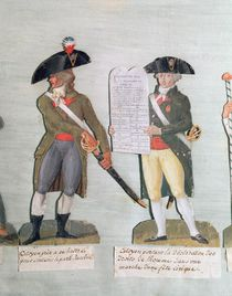 A Citizen Ready to Fight and a Citizen Carrying the Declaration of the Rights of Man by Lesueur Brothers
