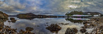 Panorama of Portree Harbour by Bruce Parker
