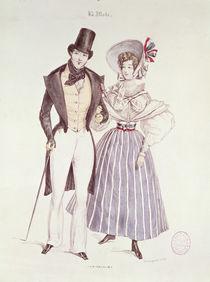 Fashion for Men and Women, 1830 von French School