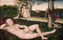 Diana Resting, or The Nymph of the Fountain by Lucas, the Elder Cranach