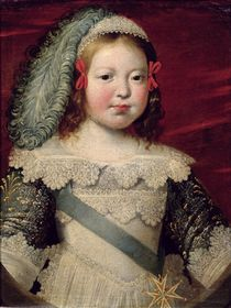 Portrait of Louis XIV as a child by Claude Deruet