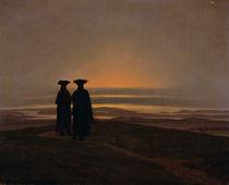Sunset c.1830-35 von Caspar David Friedrich
