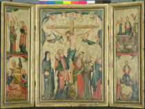Triptych depicting the Crucifixion of Christ by Master of Cologne