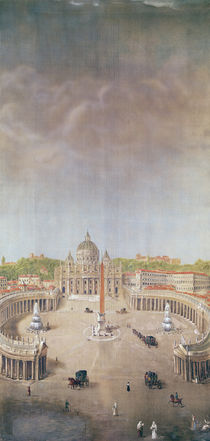 View of St. Peter's, Rome by Auguste Simon Garneray