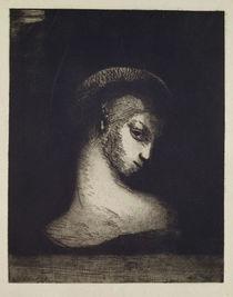 Female Head by Odilon Redon