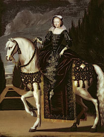 Equestrian Portrait of Marie de Medici by French School