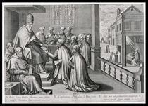 Pope Paul III Receiving the Rule of the Society of Jesus by C. Malloy