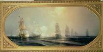 Naval Battle in Chesapeake Bay by Jean Antoine Theodore Gudin