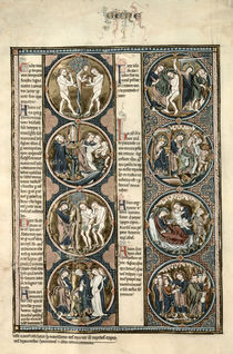 The Toledo Bible Moralisee f.7v by Spanish School