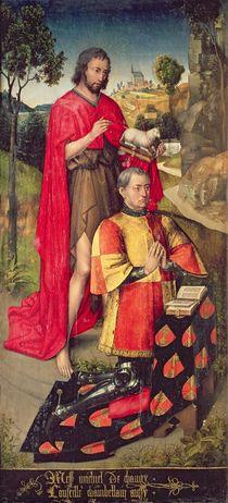 Left panel, from the main altar polyptych von Rogier van der Weyden