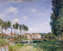 Banks of the Loing, Moret, 1892 by Alfred Sisley