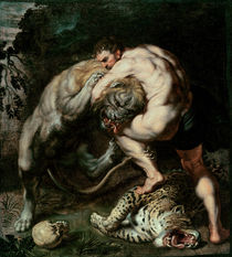 Hercules Fighting the Nemean Lion by Peter Paul Rubens